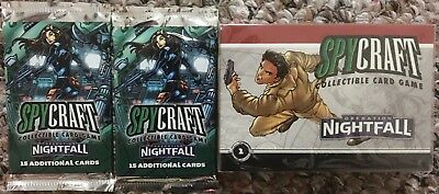 5 SEALED SPYCRAFT Operation Nightfall Boosters + Bloodvine Syndicate Deck by AEG