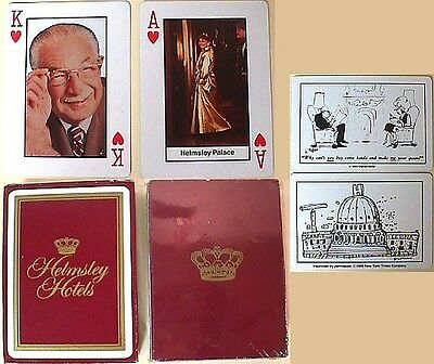 Leona & Harry Helmsley Hotels Picture Playing Cards NEW