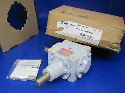 Boston Gear R1214 R1000 Series Bevel Gear Drive 1:1 Type-F 28.33 Input HP