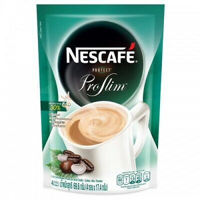 Nescafe Protect Pro Slim Diet Weight Loss Coffee Mix Powder Size 17.8 g. x 4 pcs