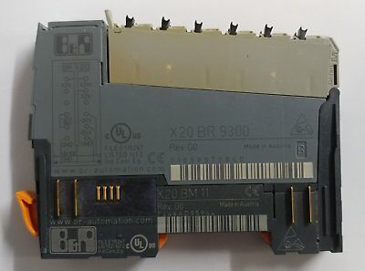 B&R X20 BR 9300 Module with X20 BM 11 BUS Connector - Bus Receiver Transmitter