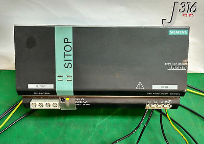 9397 Siemens Sitop Power 40 Modular Power Supply 6Ep1 437-3Ba00