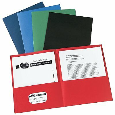 Avery Two-Pocket Folders, Assorted Colors, Box of 25 (47993){Binder Pockets} NEW