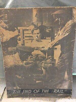 """Large """"The End Of The Trail"""" Vintage Electric Chair Poster"""