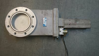 Airco temescal 200 mm vacuum gate valve, pneumatic actuation