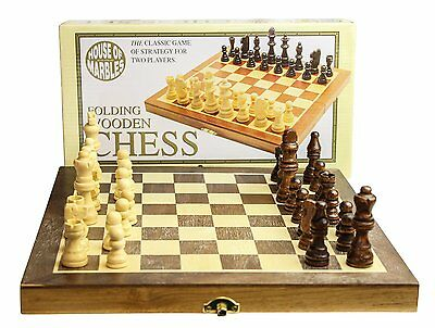 Standard Wooden Fold-Up Chess Set, House of Marbles