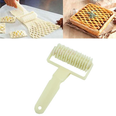 Large Lattice Roller Cutter Dough Bread Cookie Pizza Pie Pastry Baking Tool NEWR