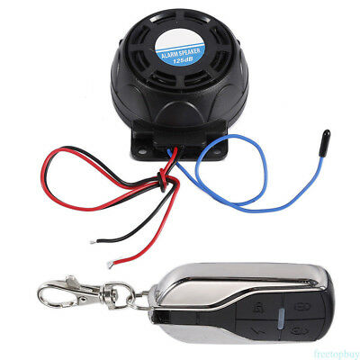 Universal Motorcycle Alarm Security System Remote Control Engine Start/Flameout