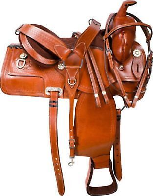 HOURSE Leather Saddle Western Roping ranch ride horse