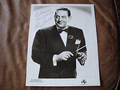 Guy Lombardo and his Royal Canadians autograph hand signed to Harold band leader