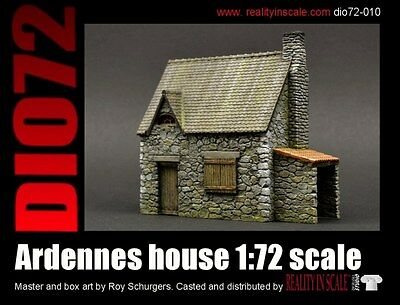 Reality In Scale 1:72 Ardennes House - Resin Diorama Accessory #72010