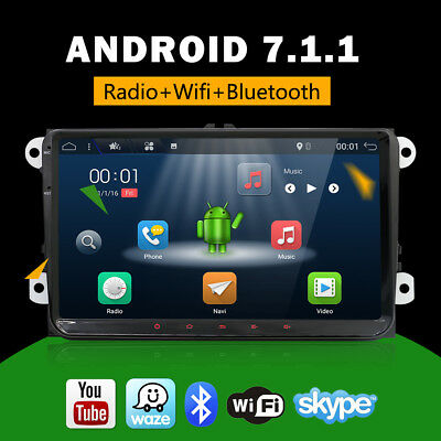"2GRAM 9"" Android7.1.1Car Radio GPS Sat Nav for VW Golf MK5 MK6 PASSAT B6 TOURAN"
