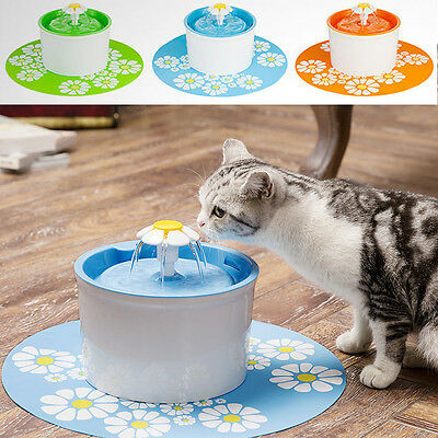 1.6L Automatic Dog&Cat Kitten Water Drinking Pet Fountain Pet Bowl with Mat