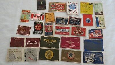 25 X Bulk Air Force Army Usa America Old Vintage Matchbox Label Cover Match Box