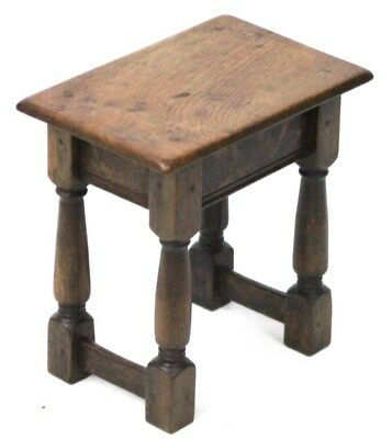 Antique English Oak Joint Stool 19th C - FREE Shipping [PL3784]
