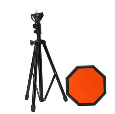 Dumb Drum Practice Pad Set with Silencer Training Stand 8''21cm Height 50-80cm