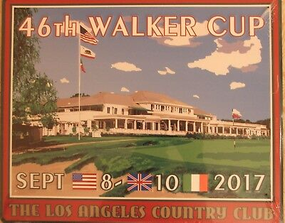 "2017 Walker Cup LACC Brand New Metal ""Pub Sign"" - Los Angeles Country Club"