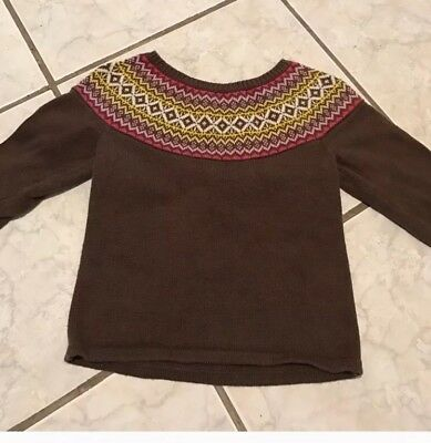 Old Navy Brown Pullover Sweater Baby Girl size 18-24months