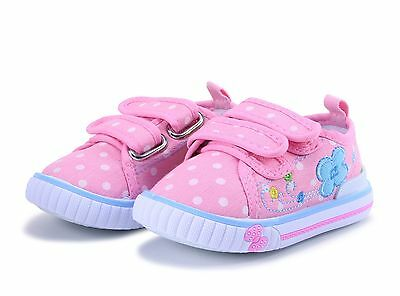 SPRING SUMMER girls canvas shoes trainers size 7 UK BABY INFANT Toddler