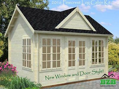 """13'x9'10"""" Log Cabin Kit, Pool or Garden House, Our Best Selling Model On Sale!"""