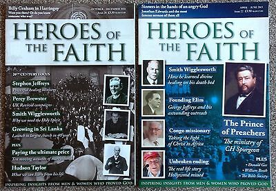 2 x HEROES OF THE FAITH MAGAZINES Oct-Dec 2014 & April-June 2015 / Christian