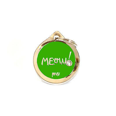 Quality Poochiwoochi Personalised Pet Dog Cat ID Collar Tags Discs MEOW! Design