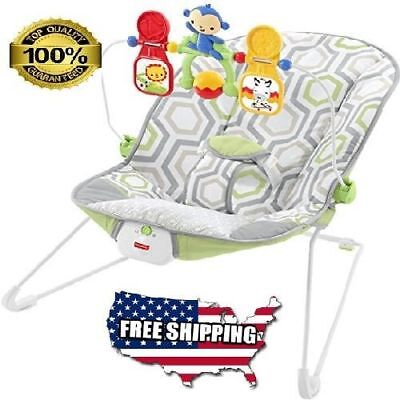 Fisher-Price Baby's Soft, Padded Bouncer Bouncy Seat, Non-Skid Feet, One Size