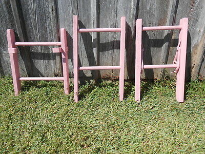 Brightly Colored Sweet Pea Rustic Antique 2 Rung Ladder