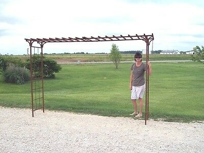 "Extra WIDE x 84"" tall Metal Garden Mission Arbor, You Can Adjust Width to Fit"