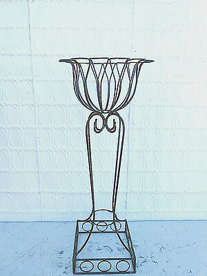 "43"" Wrought Iron Large Heavy Circle Plant Stand Decorative Container in 2 Sizes"