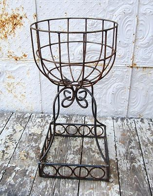 "Wrought Iron 29"" Square Round Garden Urn Planter - Heavy for Lasting Beauty"