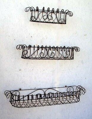 """Wrought Iron 30"""" Window Box Plant Container Decorative Flower Box"""