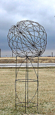Wrought Iron Lg Garden Sphere Tower Structure Yard Accent Lawn Decor