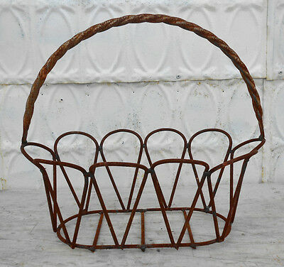 Small Metal Oval Baskets - 3 Sizes and Colors, Wrought Iron Design for Garden