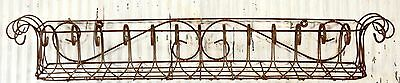 """40""""w of 4 Sizes - Several Colors Metal Window Boxes, Wrought Iron Wall Planter"""