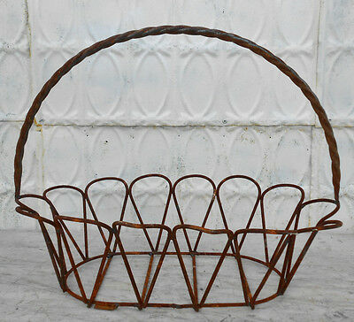 Large Metal Oval Baskets - 3 Sizes , Wrought Iron Design for Garden