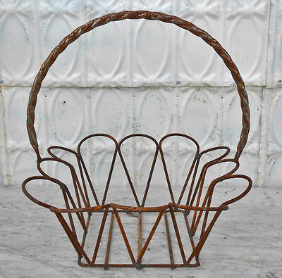 Large Metal Teardrop Baskets - 3 Sizes and, Wrought Iron Design