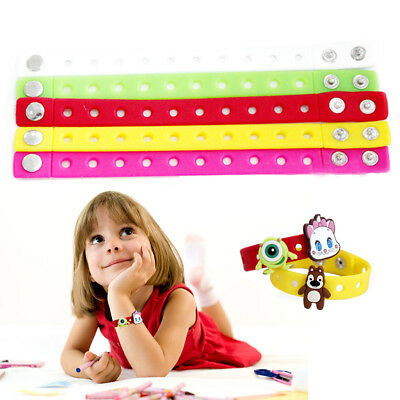 Slap Bracelet Soft Silicone Children Adjustable Wristbands with Buckle Party EB2
