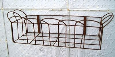 Wrought Iron Looped Front Window Box- Metal Pot Holder