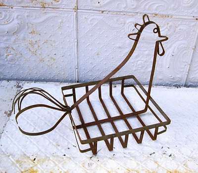 Wrought Iron Square Chicken Basket Flower Planter