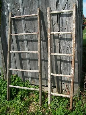 Rustic - Antique Wooden 5 Rung Ladder