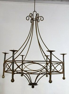 Wrought Iron Cassie Chandelier Candelabra Candle Lighting