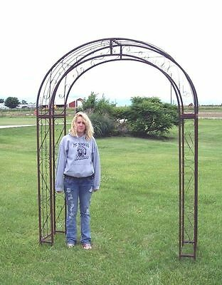 Extra Large Metal Round Top Arbor Flower Garden Wrought Iron Arch