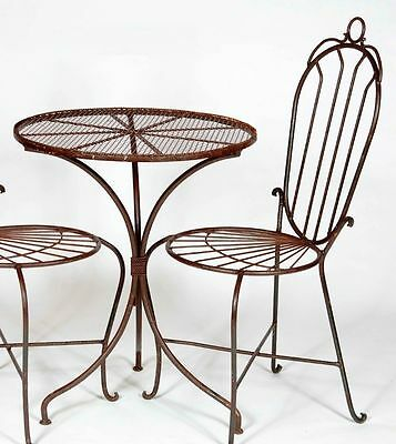 "24"" Round Wrought Iron Table - Patio Furniture for All Occations"