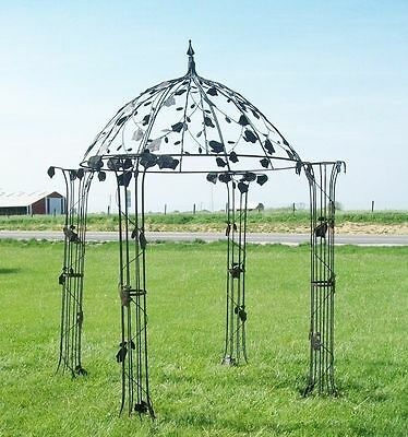 Wrought Iron Dome Gazebos with Flowers Garden Structure