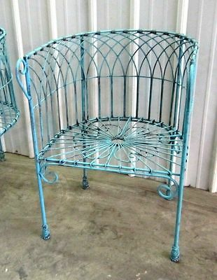 Iron French Woven Chair, Metal Several colors, Patio & Deck Furniture