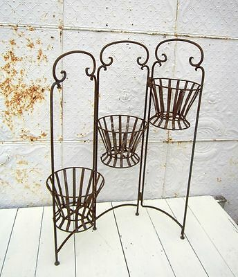 3 Basket Wrought Iron Flower Planter for Your Patio or Porch