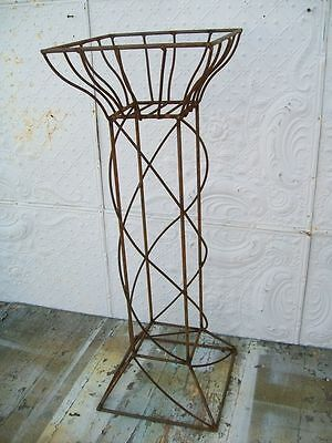 """36"""" Wrought Iron Column Planter for Weddings - Unusual Style with Drama"""