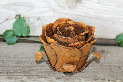 Large Metal Flower Rose Bloom Home Decor Garden Accent