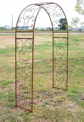 Wrought Iron Garden Arch, Metal Shell Arbor for Your Home & Garden